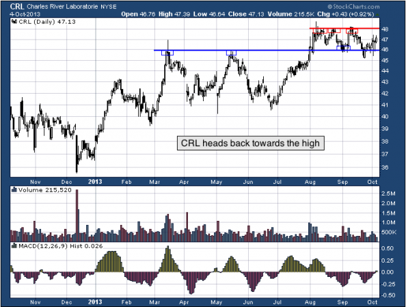 1-year chart of CRL (Charles River Laboratories International, Inc.)