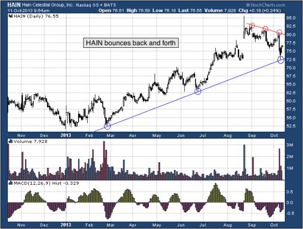 1-year chart of HAIN (The Hain Celestial Group, Inc.)