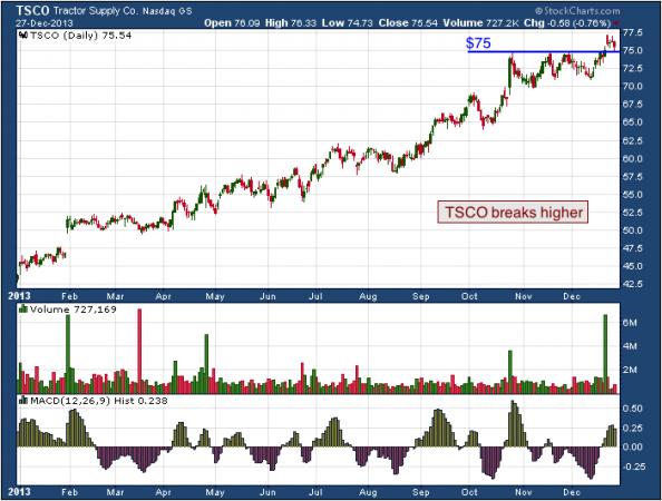 1-year chart of TSCO (Tractor Supply Company)
