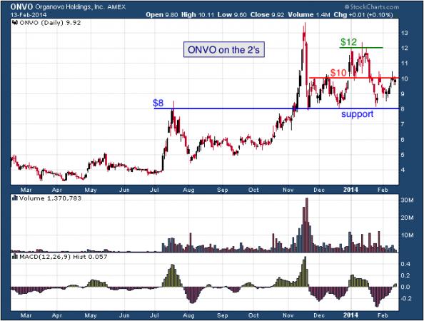 1-year chart of ONVO (Organovo Holdings)