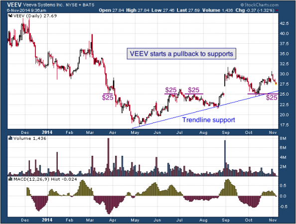 1-year chart of Veeva (NYSE: VEEV)