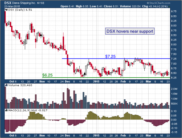 1-year chart of Diana (NYSE: DSX)