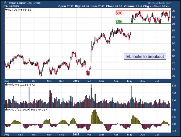 1-year chart of Estée (NYSE: EL)