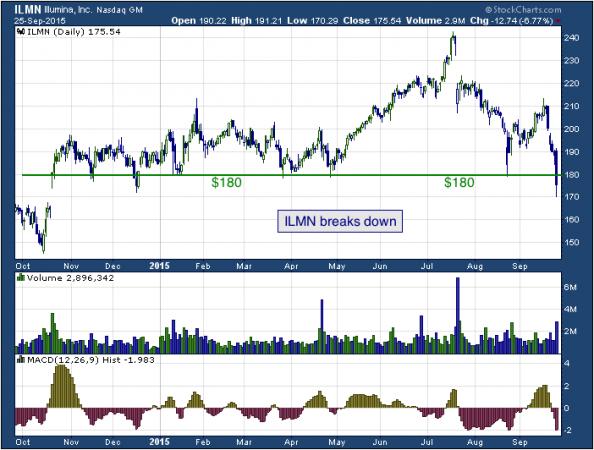 1-year chart of Illumina (NASDAQ: ILMN)