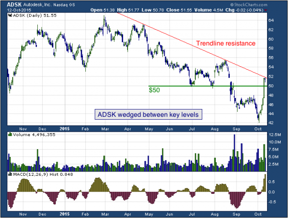 1-year chart of Autodesk (NASDAQ: ADSK)