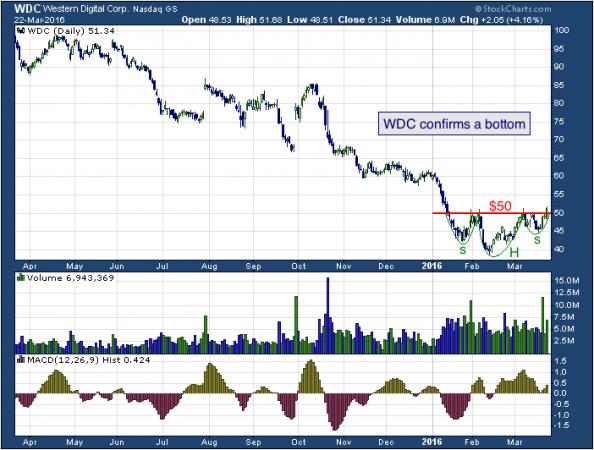 1-year chart of Western (NASDAQ: WDC)