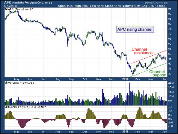 1-year chart of Anadarko (NYSE: APC)