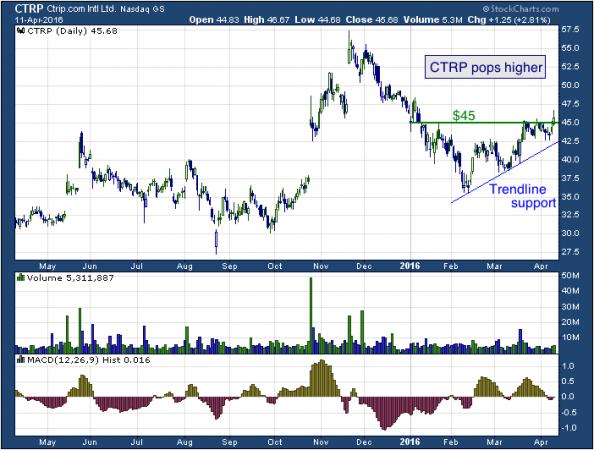 1-year chart of Ctrip.com (NASDAQ: CTRP)