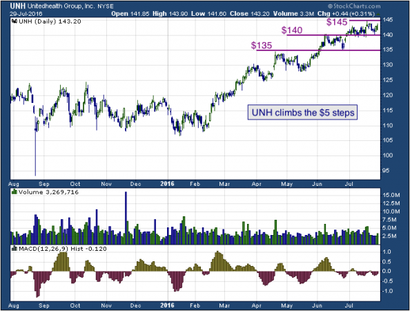 1-year chart of United (NYSE: UNH)