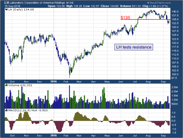 1-year chart of Lab Corp (NYSE: LH)