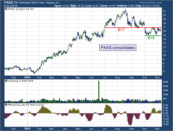1-year chart of Pan American (NASDAQ: PAAS)