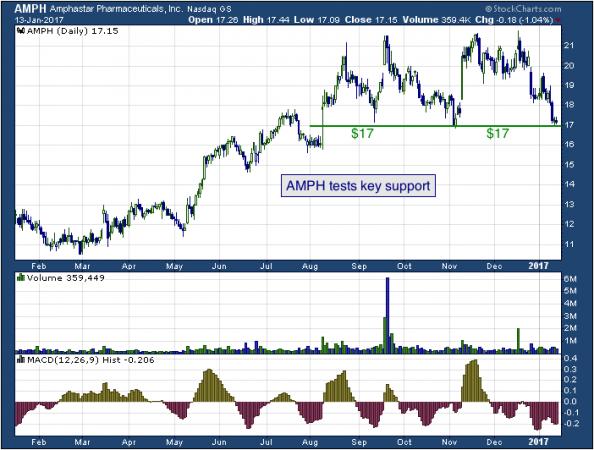 1-year chart of Amphastar (NASDAQ: AMPH)