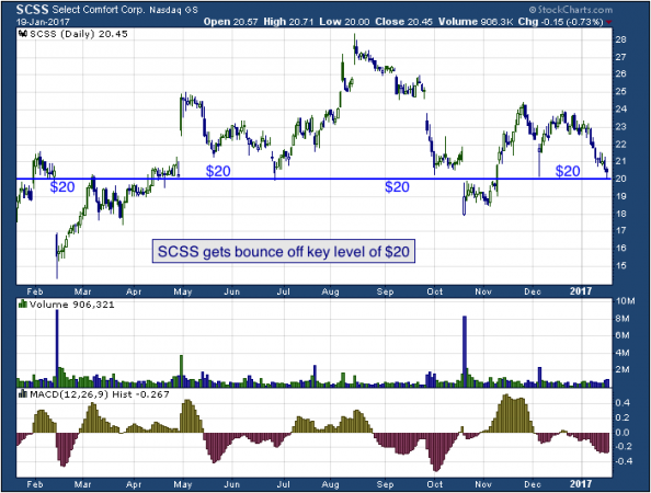 1-year chart of Select (NASDAQ: SCSS)
