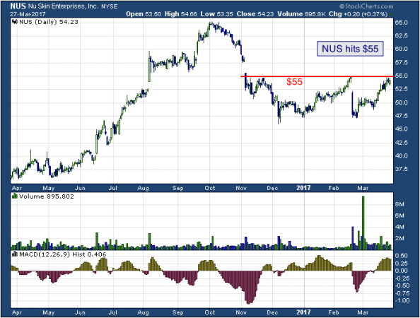 1-year chart of Nu (NYSE: NUS)