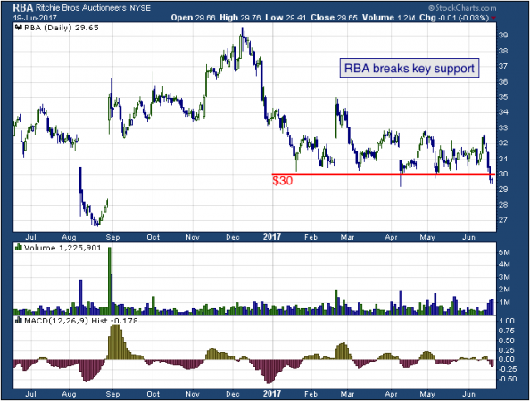 1-year chart of Ritchie (NYSE: RBA)