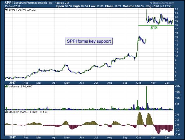 1-year chart of Spectrum (NASDAQ: SPPI)