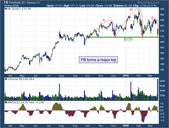 1-year chart of Facebook (NASDAQ: FB)