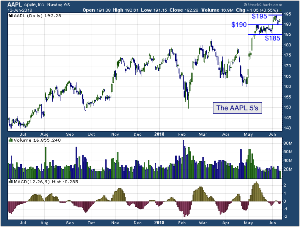 1-year chart of Apple (Nasdaq: AAPL)