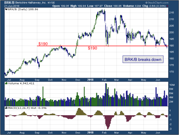 1-year chart of Berkshire Hathaway Inc (NYSE: BRK/B)