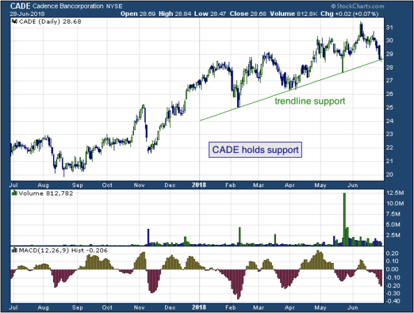 1-year chart of Cadence (NYSE: CADE)