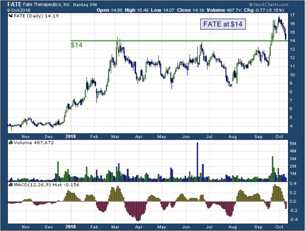 1-year chart of Fate (NASDAQ: FATE)
