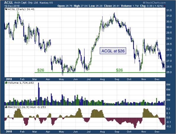 1-year chart of Arch (NASDAQ: ACGL)