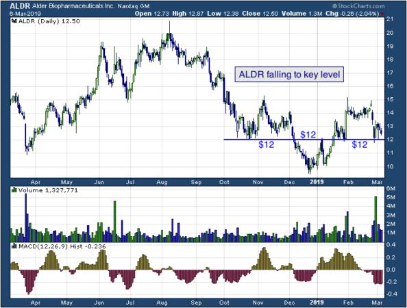 1-year chart of Alder (NASDAQ: ALDR)