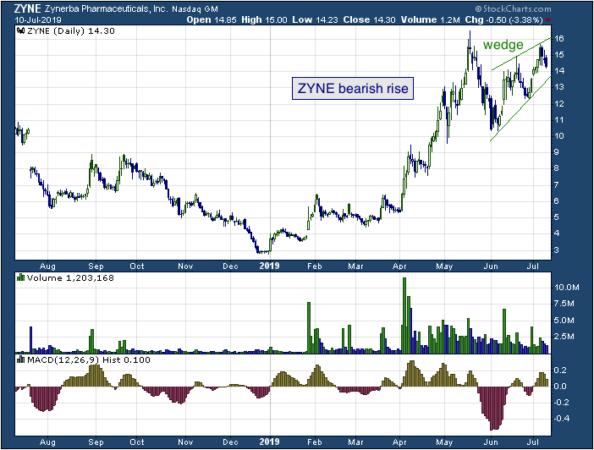 1-year chart of Zynerba (NASDAQ: ZYNE)