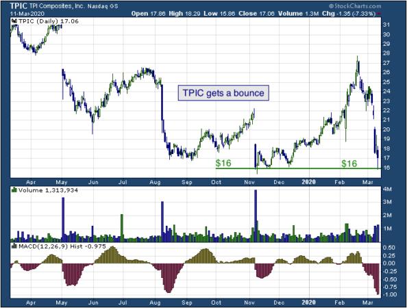 1-year chart of TPI (NASDAQ: TPIC)