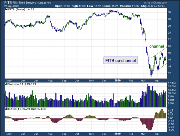 1-year chart of Fifth Third Bancorp (NASDAQ: FITB)